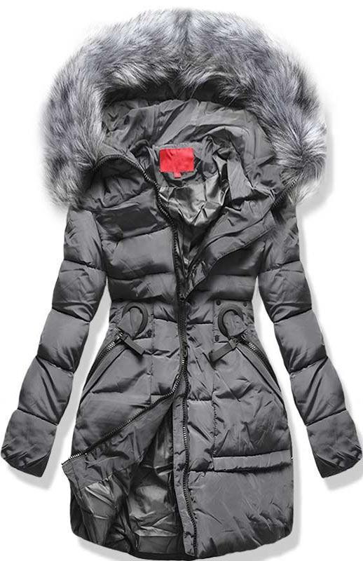 Sivá zimná bunda