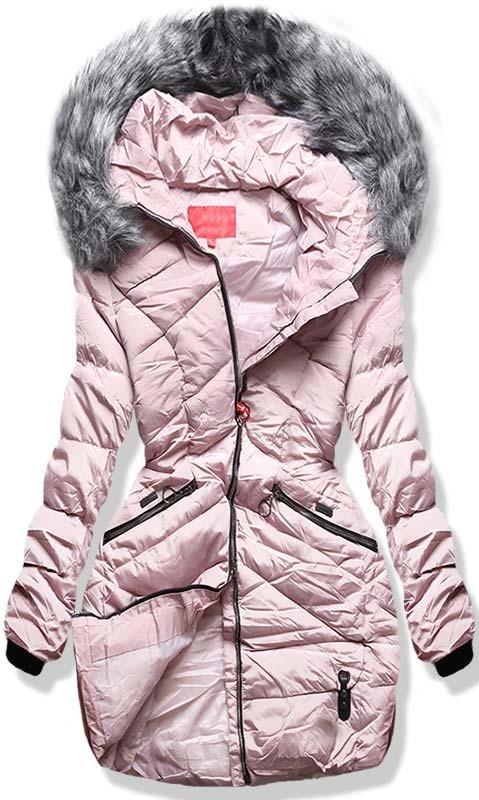 Ružová zimná bunda 1819