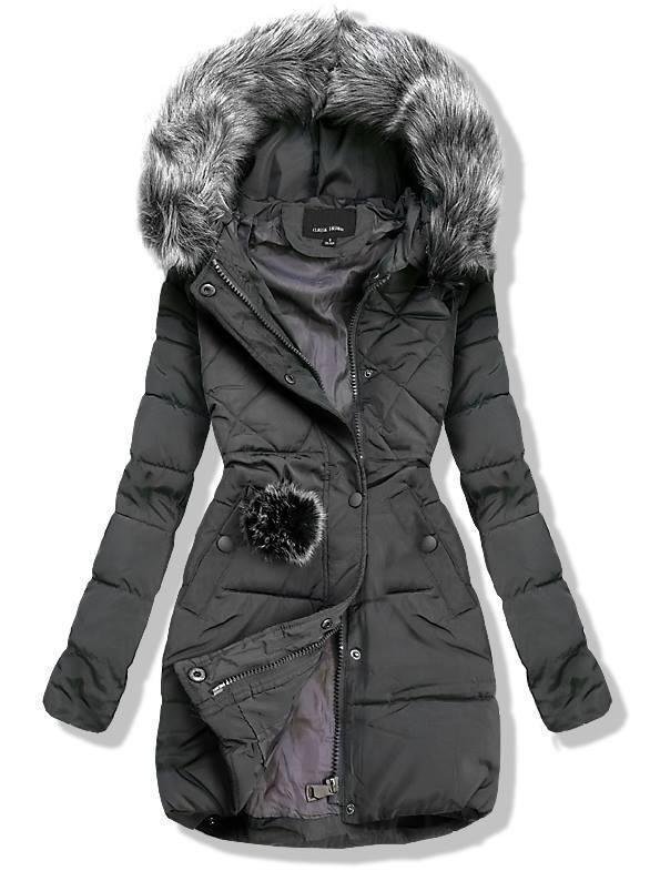 Grafitová zimná bunda