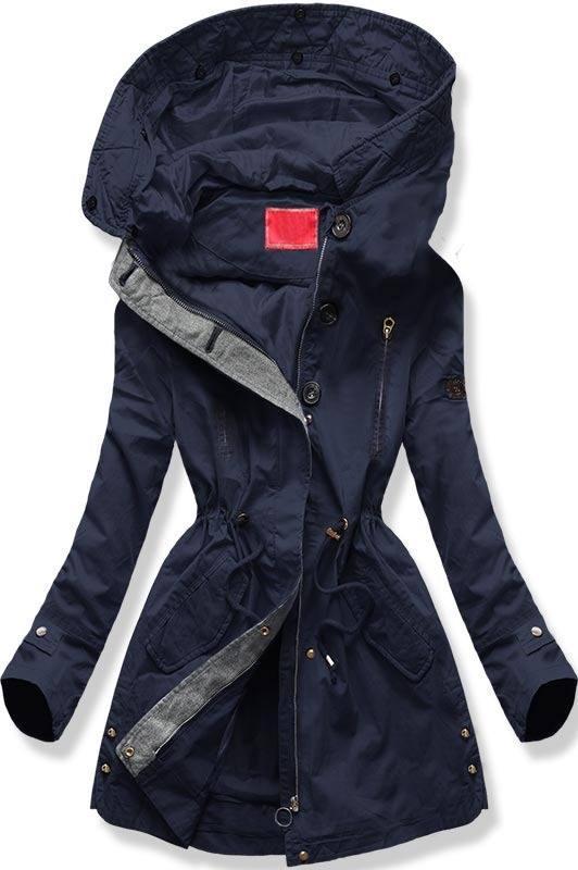 acd3970352ef 38558 Čierny zimný kabát s plyšovou podšívkou pohodlný a teplý ...