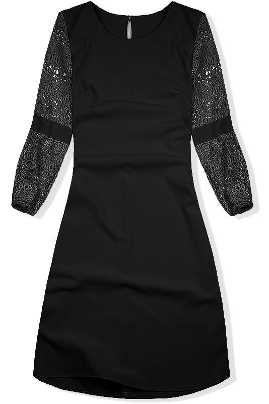 2f88f239d01c Čierne šaty s čipkou