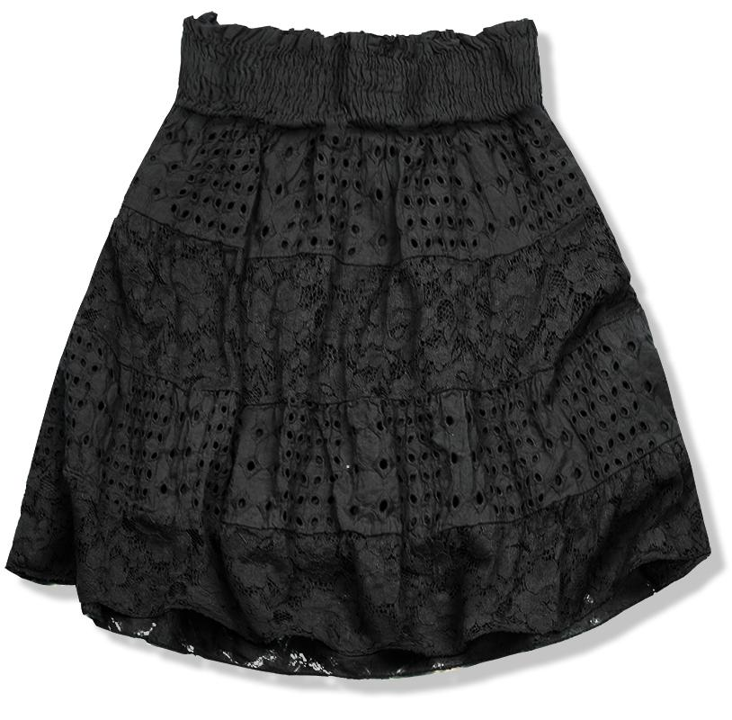 50420a64662f Čierna sukňa s čipkou