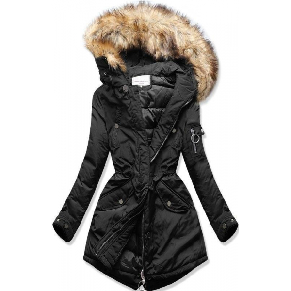 Prešívaná zimná bunda čierna
