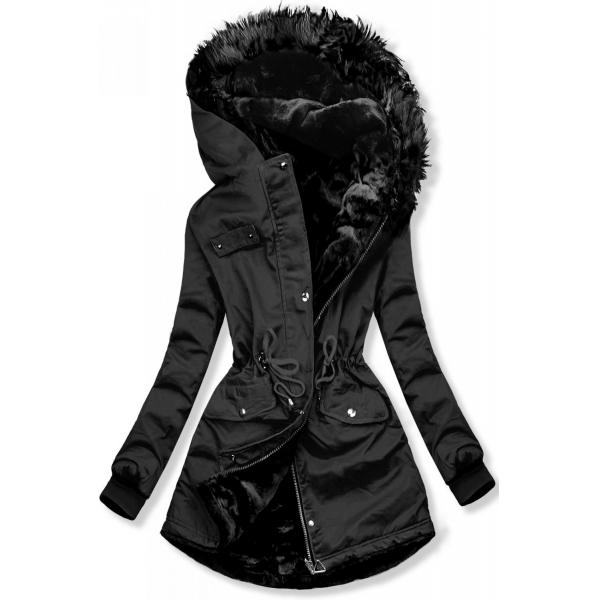 Čierna obojstranná zimná bunda