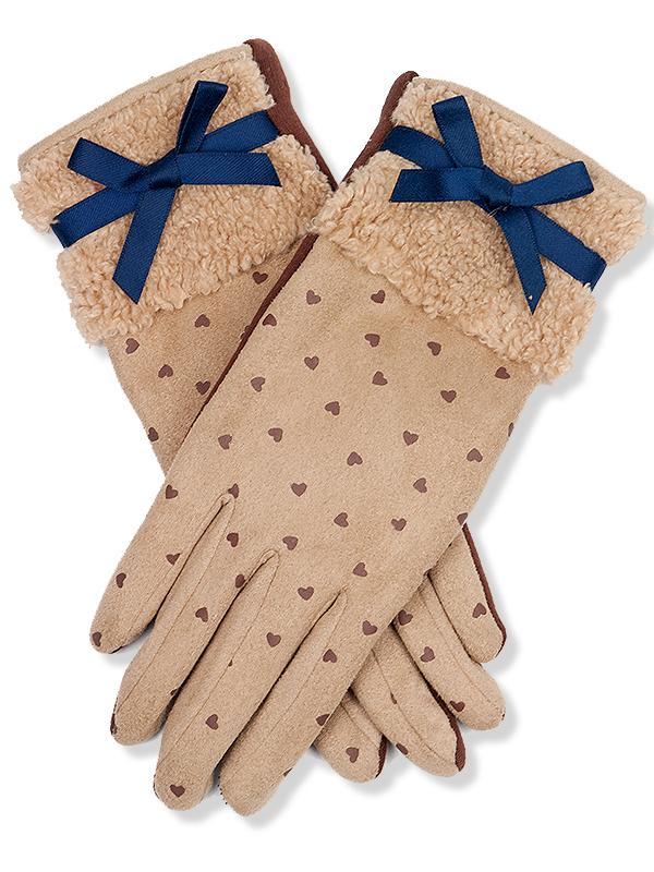 Béžové rukavice Lovely