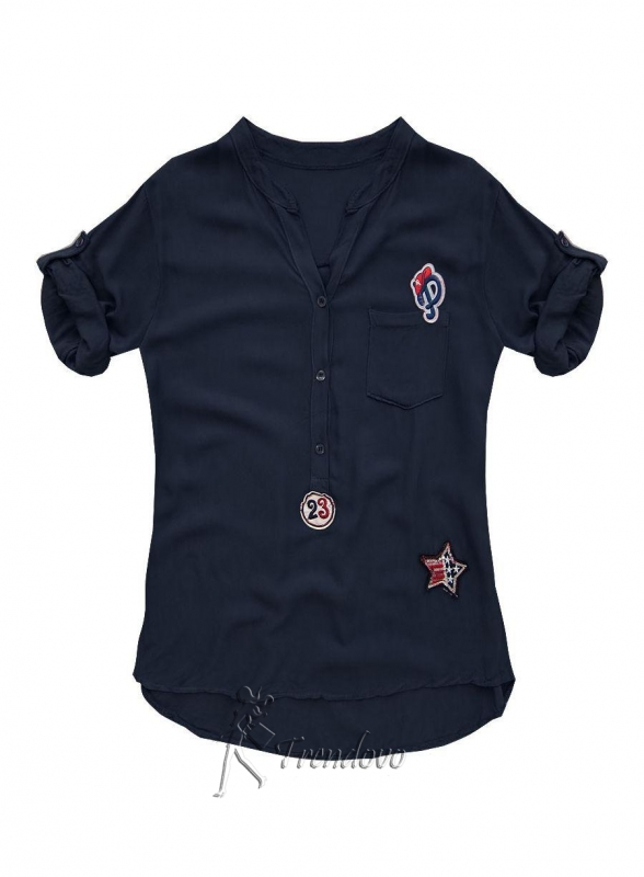 Granátová košile 8850
