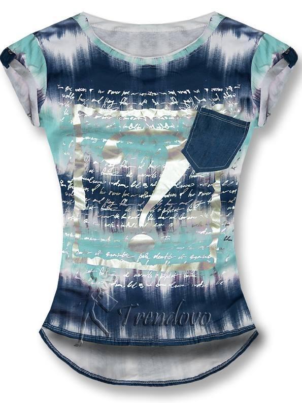 Mátově modré tričko 8961