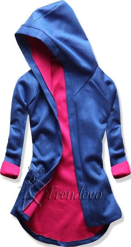 Kobaltově-fuchsiová tunika s kapucí 5085