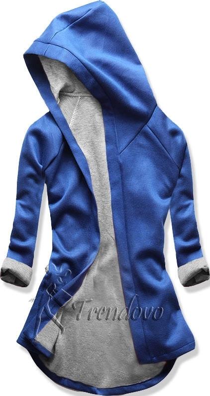 Kobaltově-šedá tunika s kapucí 5085
