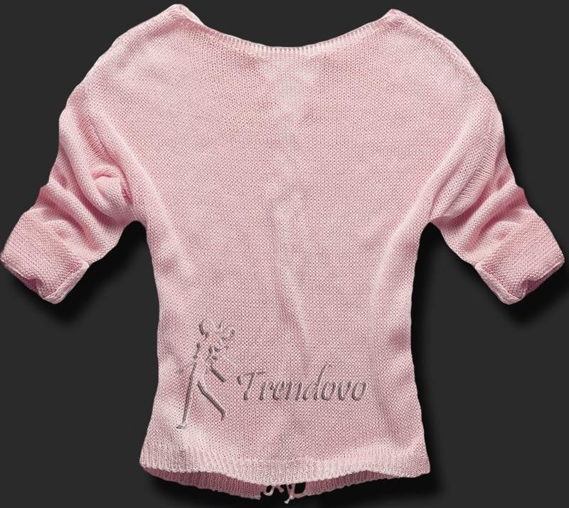 Růžový svetřík 0123