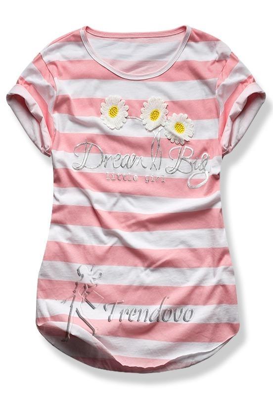 Pudrové tričko 2144